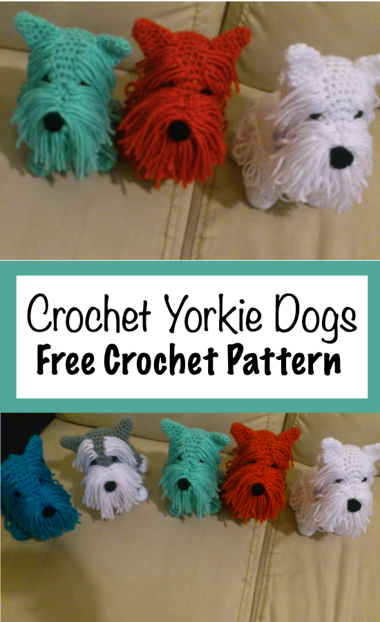 Free Crochet Yorkie Dog Pattern With Video #crochetdolls