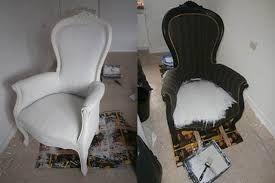 Leren stoelen verven met annie sloan verf curtains and for Barok eetstoelen