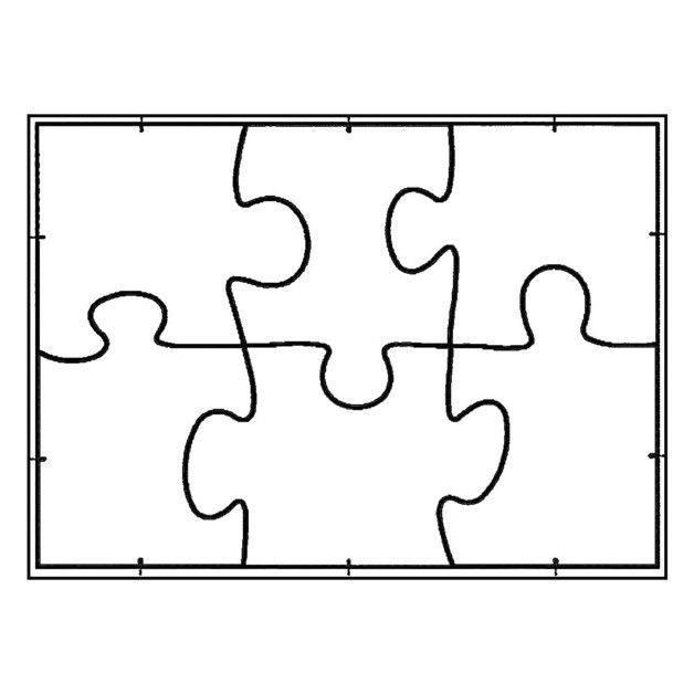 white line puzzle format a5 zum selbst bemalen 6 st ck puzzles ganz einfach selber gestalten. Black Bedroom Furniture Sets. Home Design Ideas