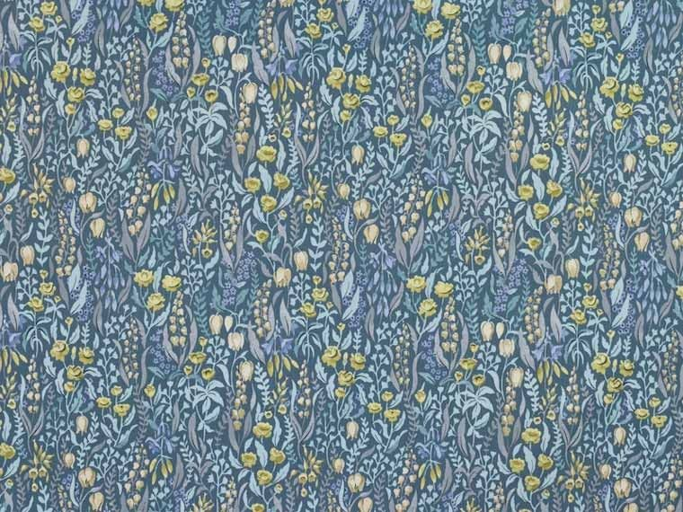 Iliv Kelmscott Prussian Curtain And Upholstery Fabric Available From Our Online Or Warehouse In Northamptonshire
