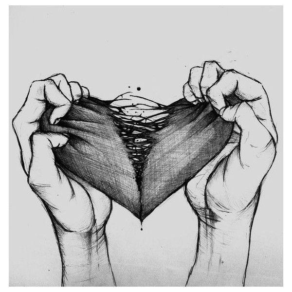 Love Drawing Illustration Art Black And White Sad Cool Creepy Heart