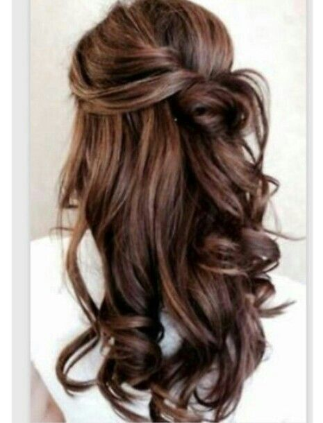 1 2 Up Gorgeousness With Images Elegant Wedding Hair Long