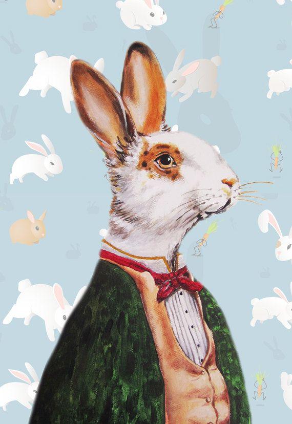 Animal+Art+Print+Art+Giclee+Print+Acrylic+Painting+by+CocktailZoo,+$10.00