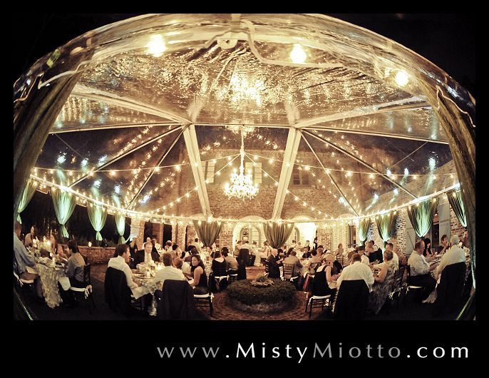 Wedding reception with a crystal chandelier by @Signature ...