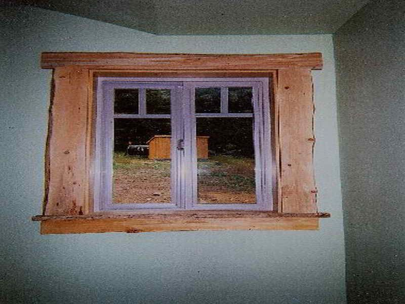 Rustic window trim google search cabin in the woods - What type of wood for exterior trim ...
