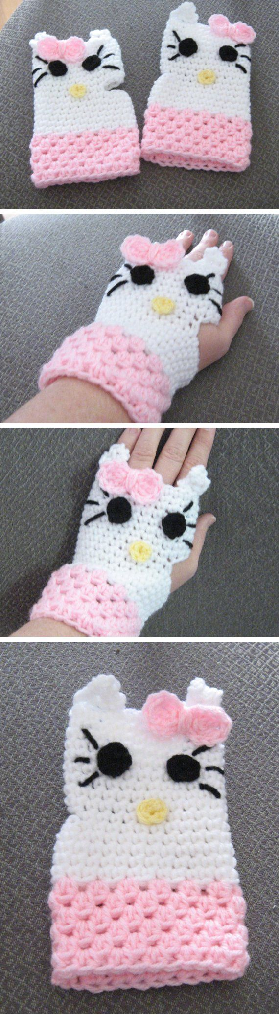 Hello Kitty Wristlets - *Inspiration* | Nerd Crochet :) | Pinterest ...