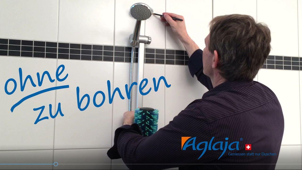 Kleben Statt Bohren In Diesem Video Zeigen Wir Ihnen Wie Einfach Sie Das Aglaja Duschsystem Montieren Können Ohne Zu Bohren Duschsysteme Bohren Dusche