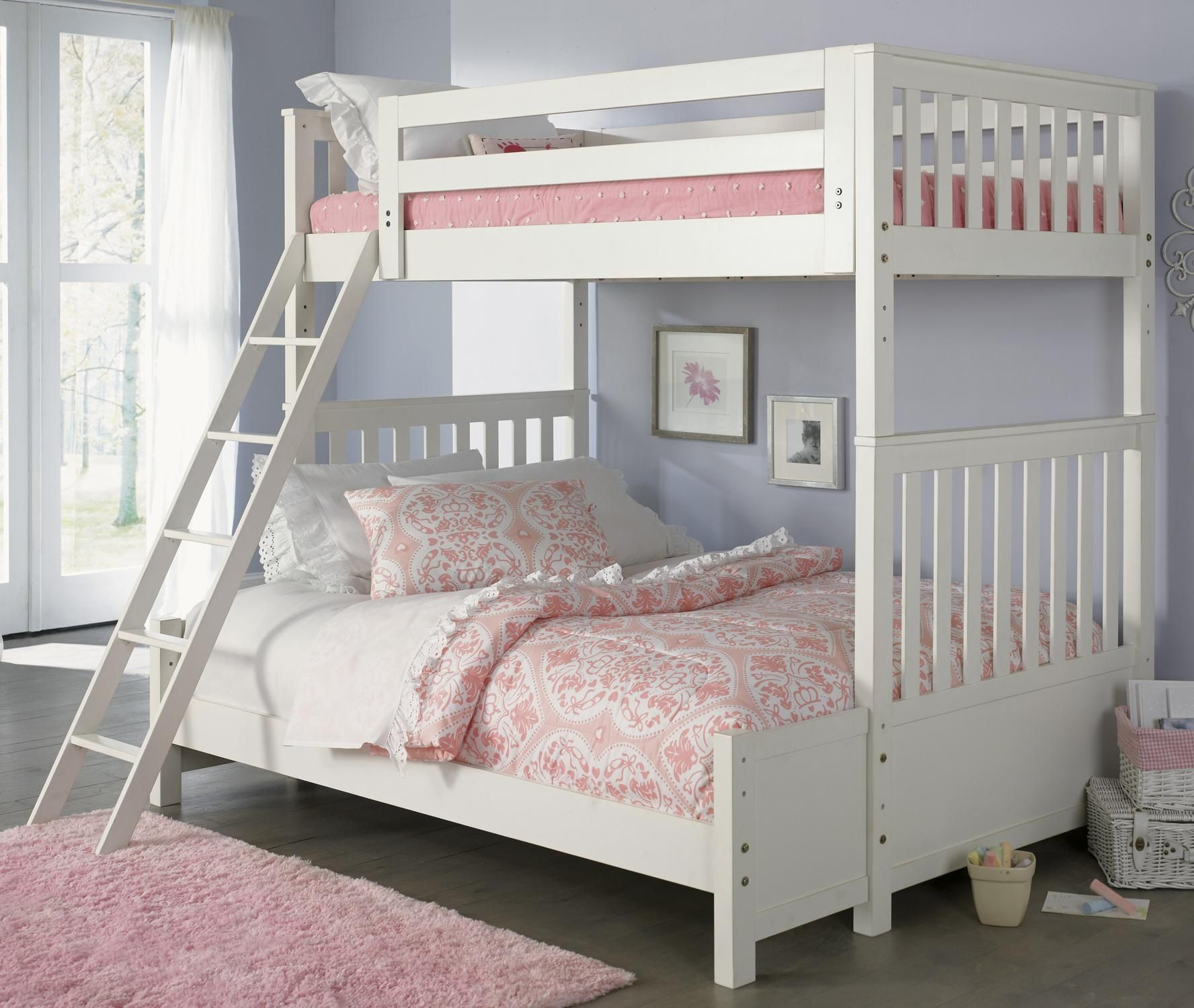 Arielle Youth Bedroom Transitional Twin Over Full Bunkbed By - Liberty furniture industries bedroom sets