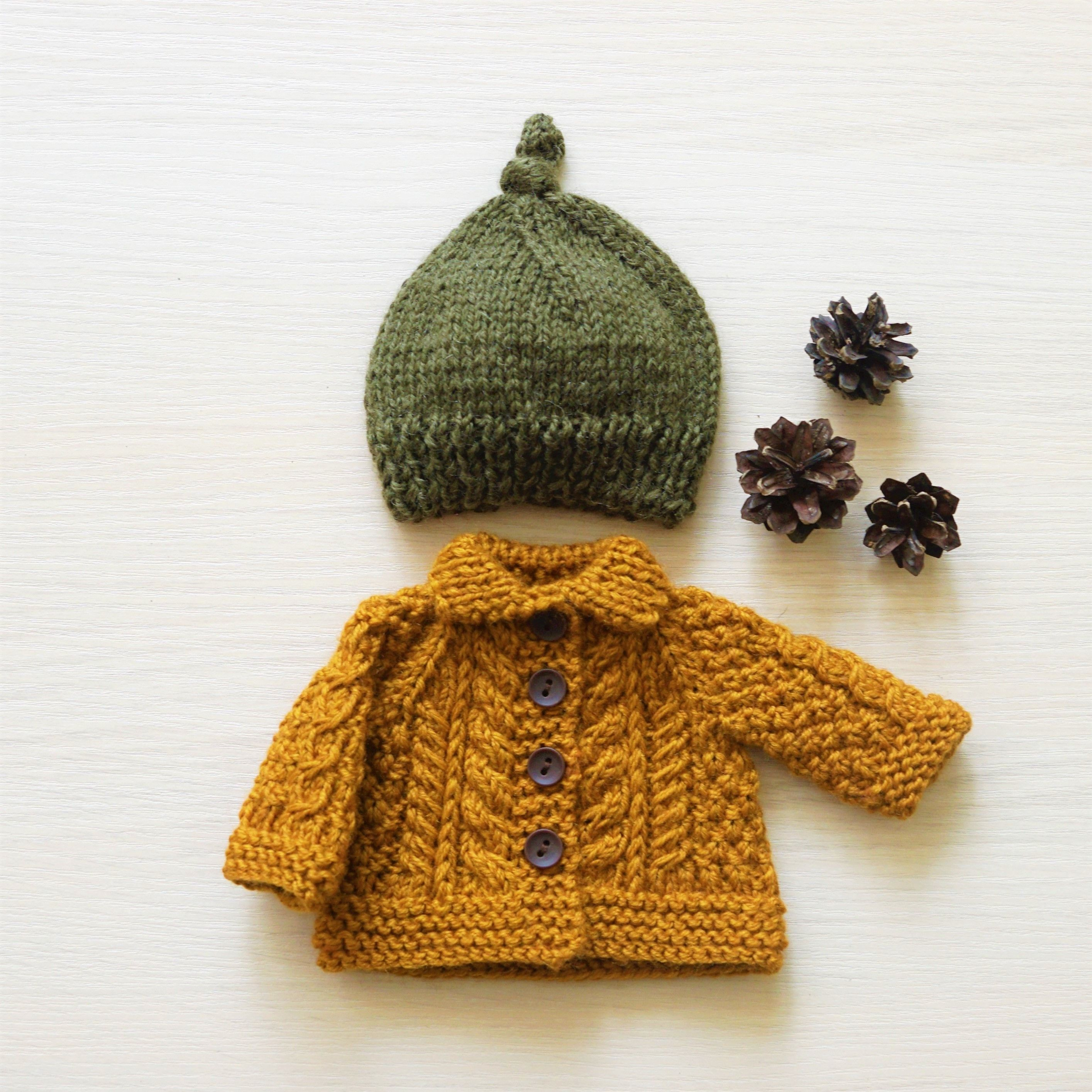 Knitted doll clothes set 11 12 13 14 15 16 inch jacket