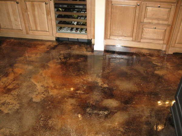 wood kitchen cabinets & stained concrete floors   20 Photos of the ...