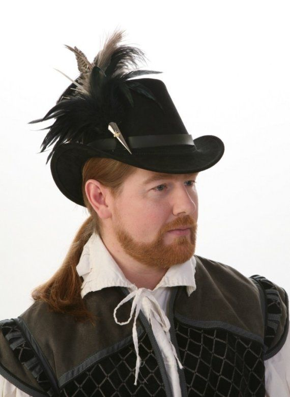 650b755d06f Gentleman s Elizabethan Tall Hat by TheBlondeSwan on Etsy