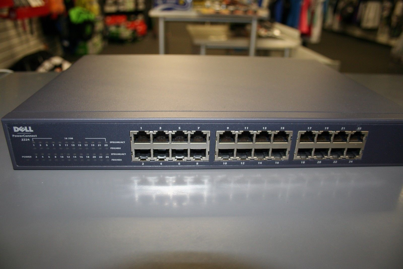 Dell Powerconnect 2224 10 100 24 Port Switch Used Free Usa Ship Deals Pinterest