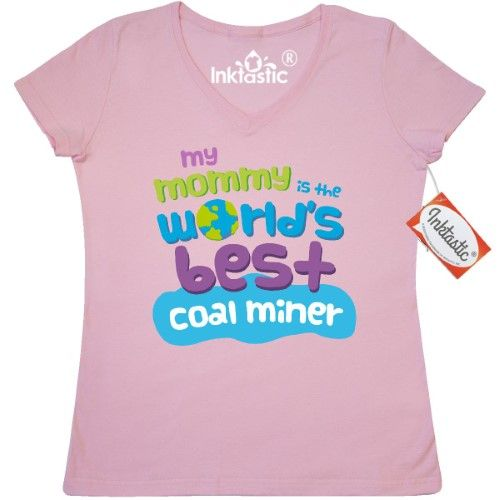 64cecd935 Inktastic Coal Miner Gifts For Kids Women's V-Neck T-Shirt Clothing Apparel  Tees Adult Hws, Size: XL, Pink