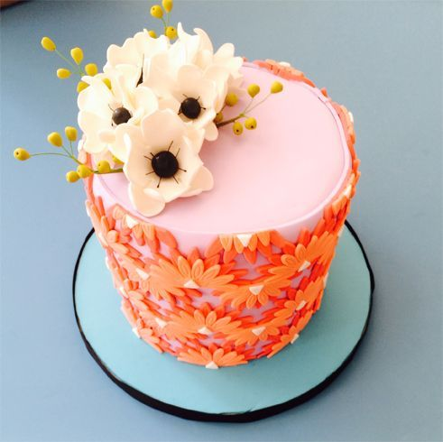 Colorful Orange Daisy Little Cake