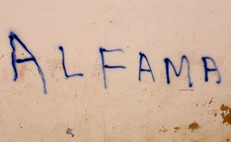 Graffiti. City of Lisboa (Lisbon), district of Alfama