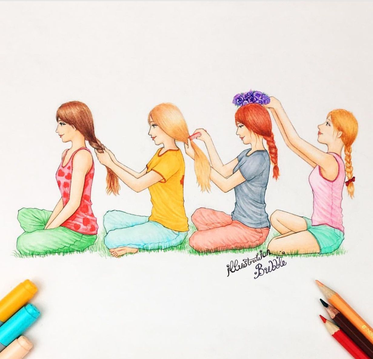 Comb hairs | Best Friends Forever | Pinterest | Bff ...