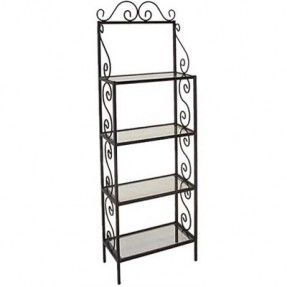Grace 24 Traditional Wrought Iron Bakers Rack Bakers Rack
