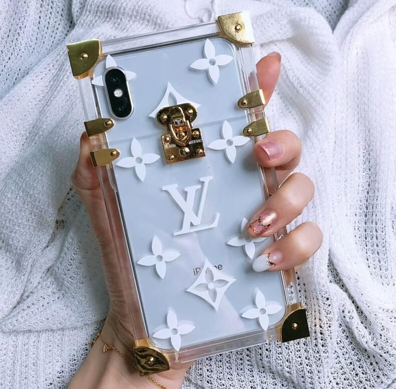 Lv Petite Malle Bag Transparant Hard Case Cover For Iphone X Iphone 8 Iphone 8 Plus Phone Cheap Case Girly Phone Cases Bling Phone Cases Apple Phone Case