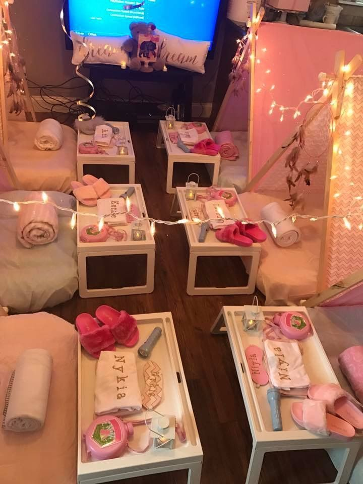 Nyla Birthday Party Spa Slumber Party Ideas Last Minute Sleepover Ideas Slee Sleepover Birthday Parties Birthday Sleepover Ideas Birthday Party For Teens