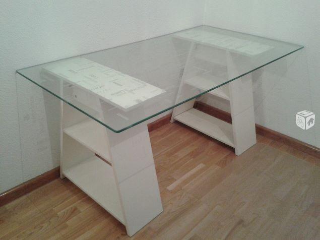 Foto de mesa escritorio cristal ikea decoracion en 2019 - Mesas estudio cristal ...