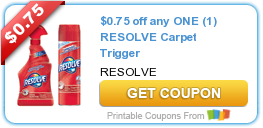 Tri Cities On A Dime: SAVE $0.7R ON ANY RESOLVE CARPET TRIGGER