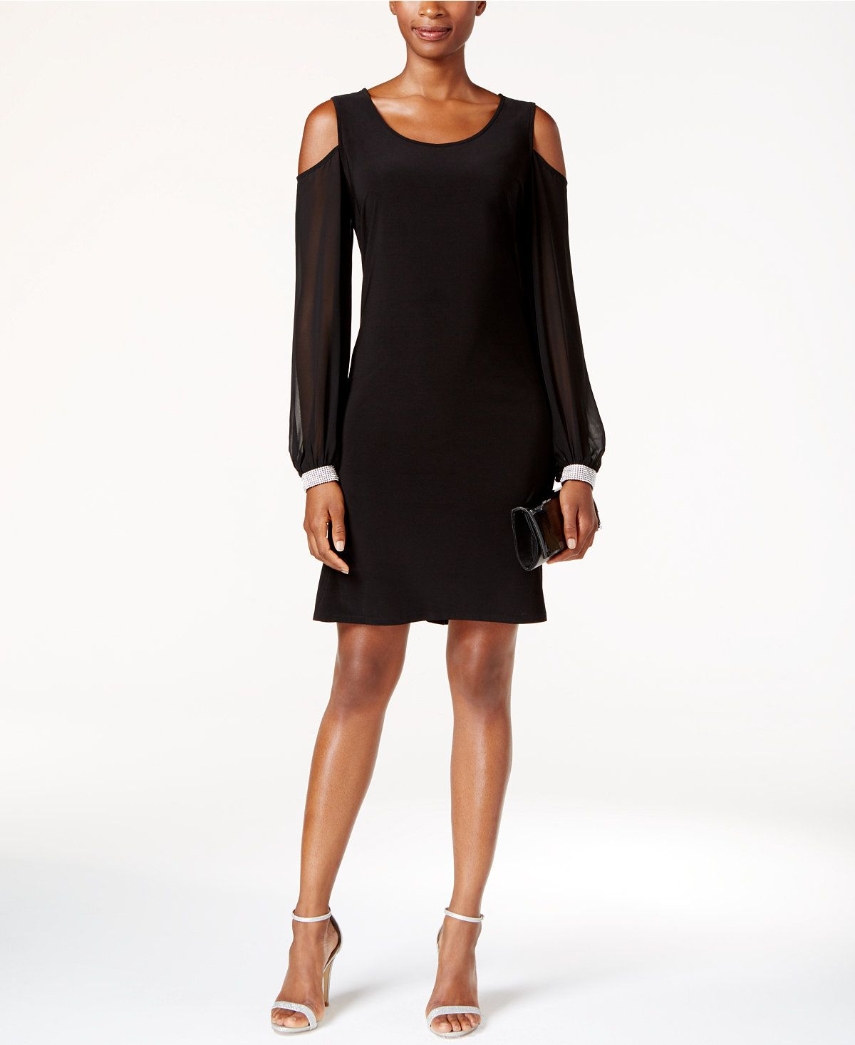 2a26baee2b MSK Embellished Cold-Shoulder Cocktail Dress - Dresses - Women - Macy s