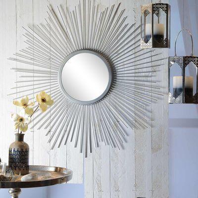 Spiegel Strahlen, ca D75cm, silber Wohnzimmer Pinterest - wohnzimmer deko online shop