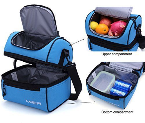 ddd98aa942f294 Amazon.com  MIER Adult Lunch Box Insulated Lunch Bag Large Cooler Tote Bag  for Men
