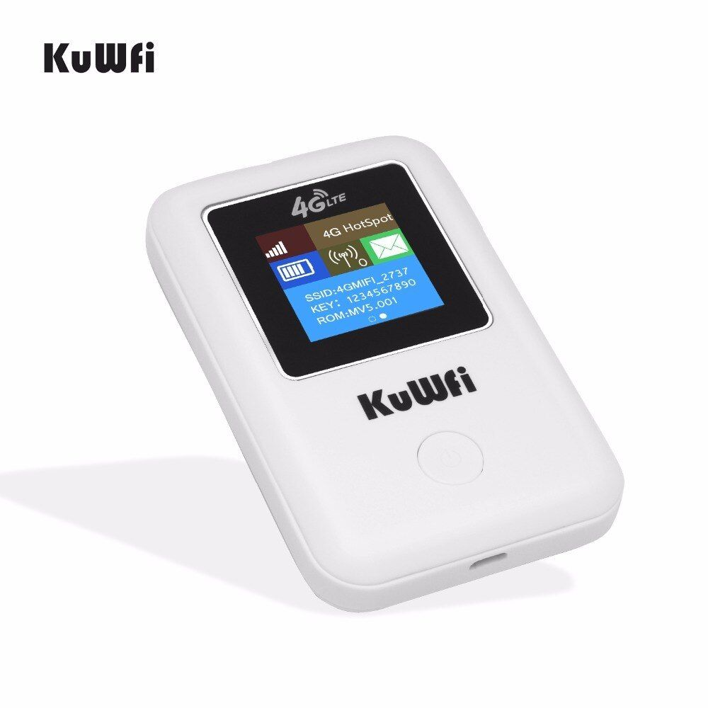 KuWFI 4G Wifi Router Portable 3G/4G LTE Wireless Router Unlock