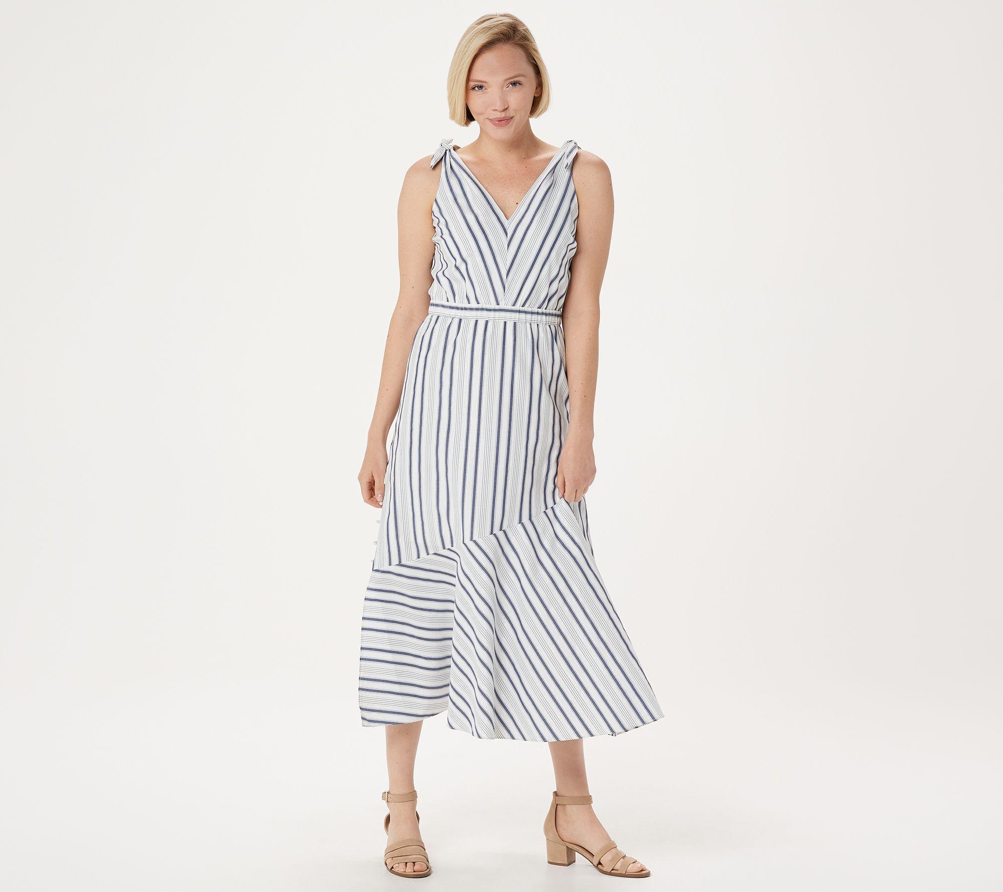 Sam Edelman Striped Maxi Dress Qvc Com Striped Maxi Dresses Dresses White Maxi Dresses [ 1778 x 2000 Pixel ]