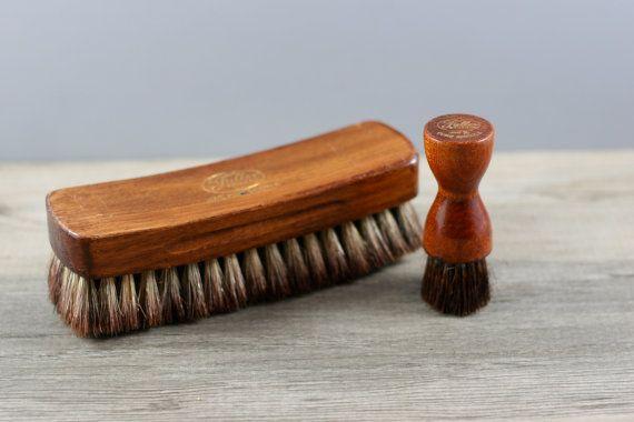 Vintage Wooden Shoe Brush Shoe Shine Brush