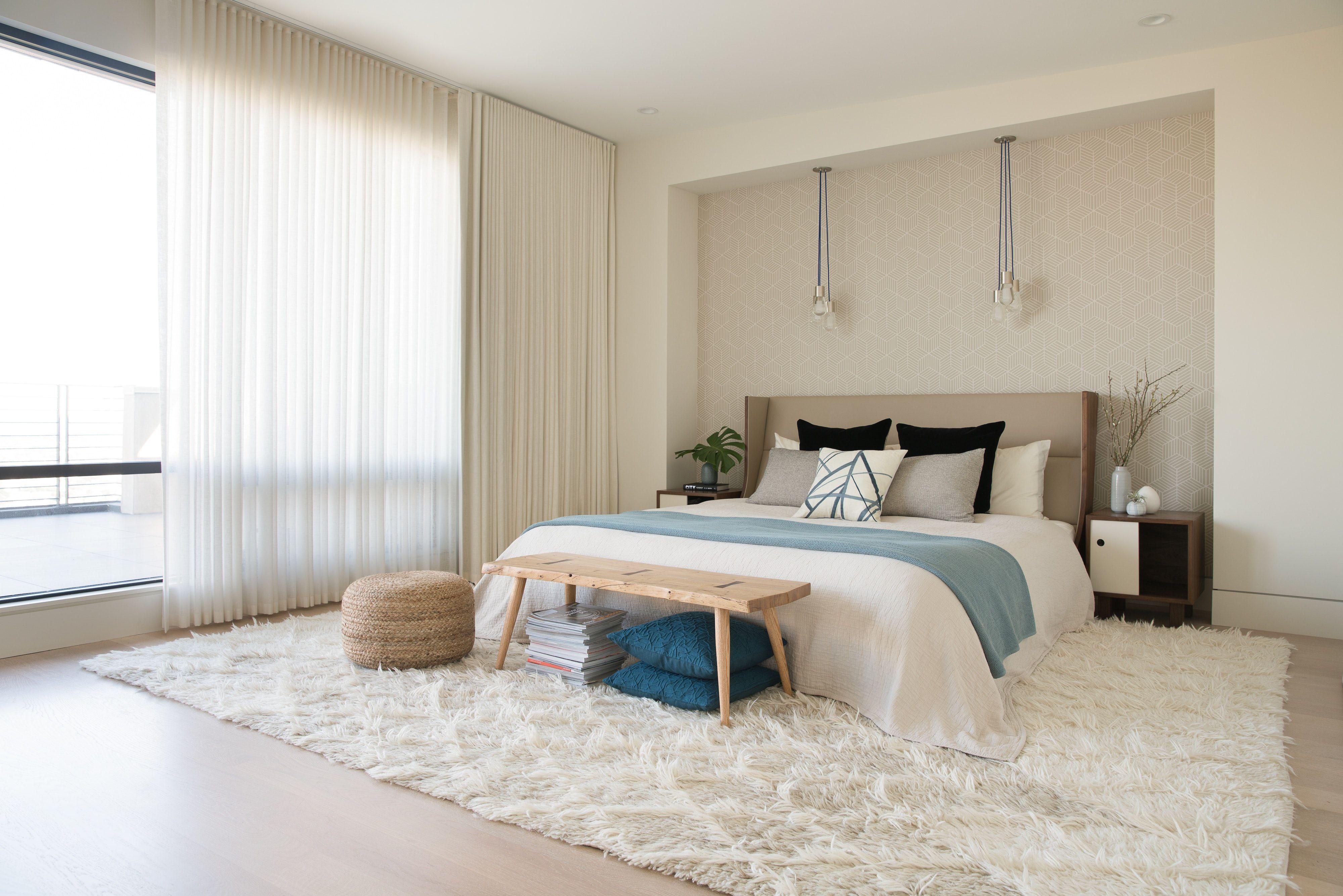 Verolinens Sleepinluxury White Master Bedroom Contemporary Room High Pile Rug