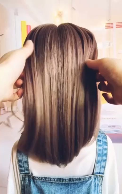 Hairstyles For Long Hair Videos Hairstyles Videos Hairstyletutorial Short Hair Styles Easy Long Hair Video Hair Tutorial