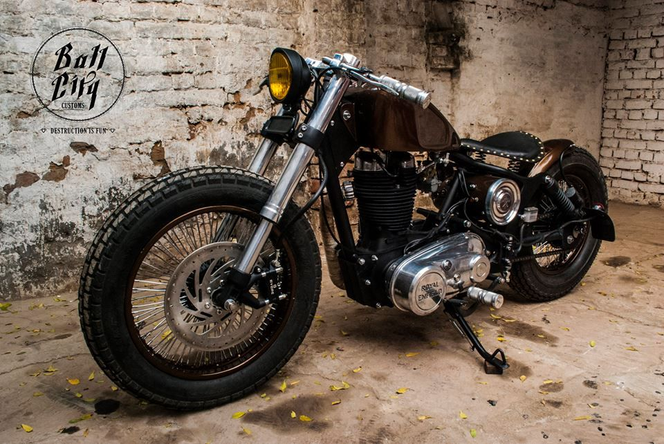 2004 Royal Enfield Electra Bobber by Bull City Customs