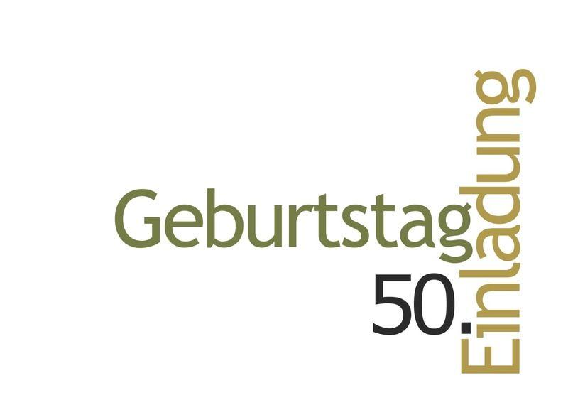 Einladungskarte / Einladung 50. Geburtstag, Weiss Von Designkarten Auf  DaWanda.com