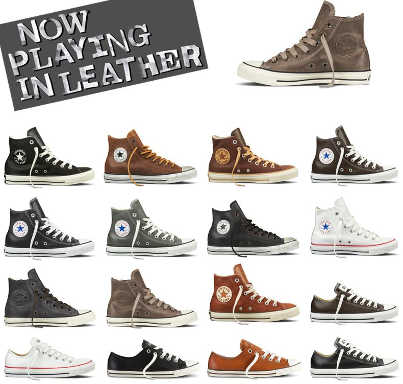 Leather Converse. I probably wouldn't wear these but I thought they were cool.