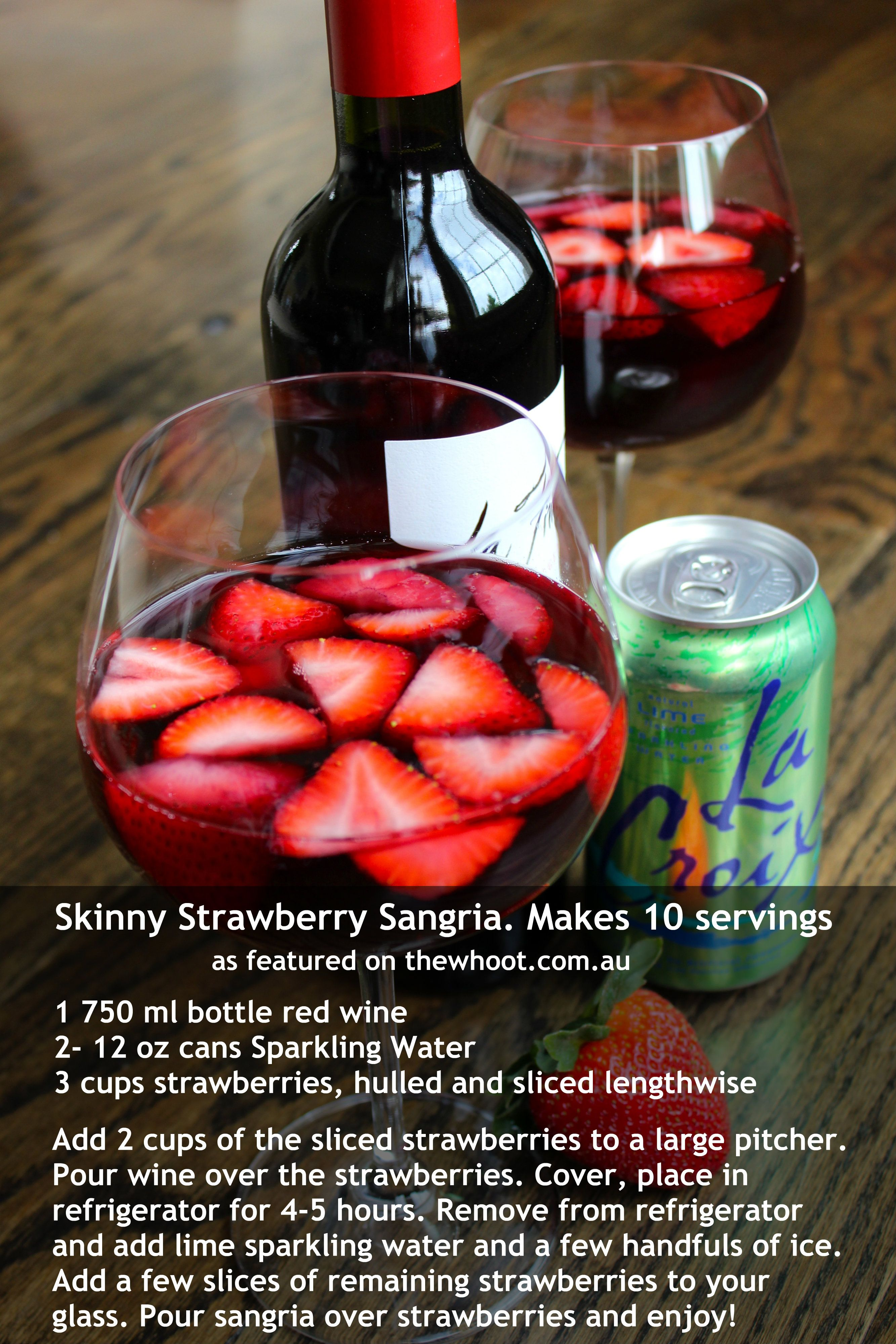 Strawberry Sangria Jpg 2 666 3 999 Pixels Strawberry Sangria Fun Drinks Skinny Sangria
