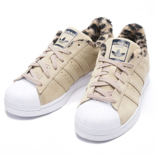 Adidas Superstar W Beige Cheetah Patent Stylish Trainers UK4 -\u003e 7,5