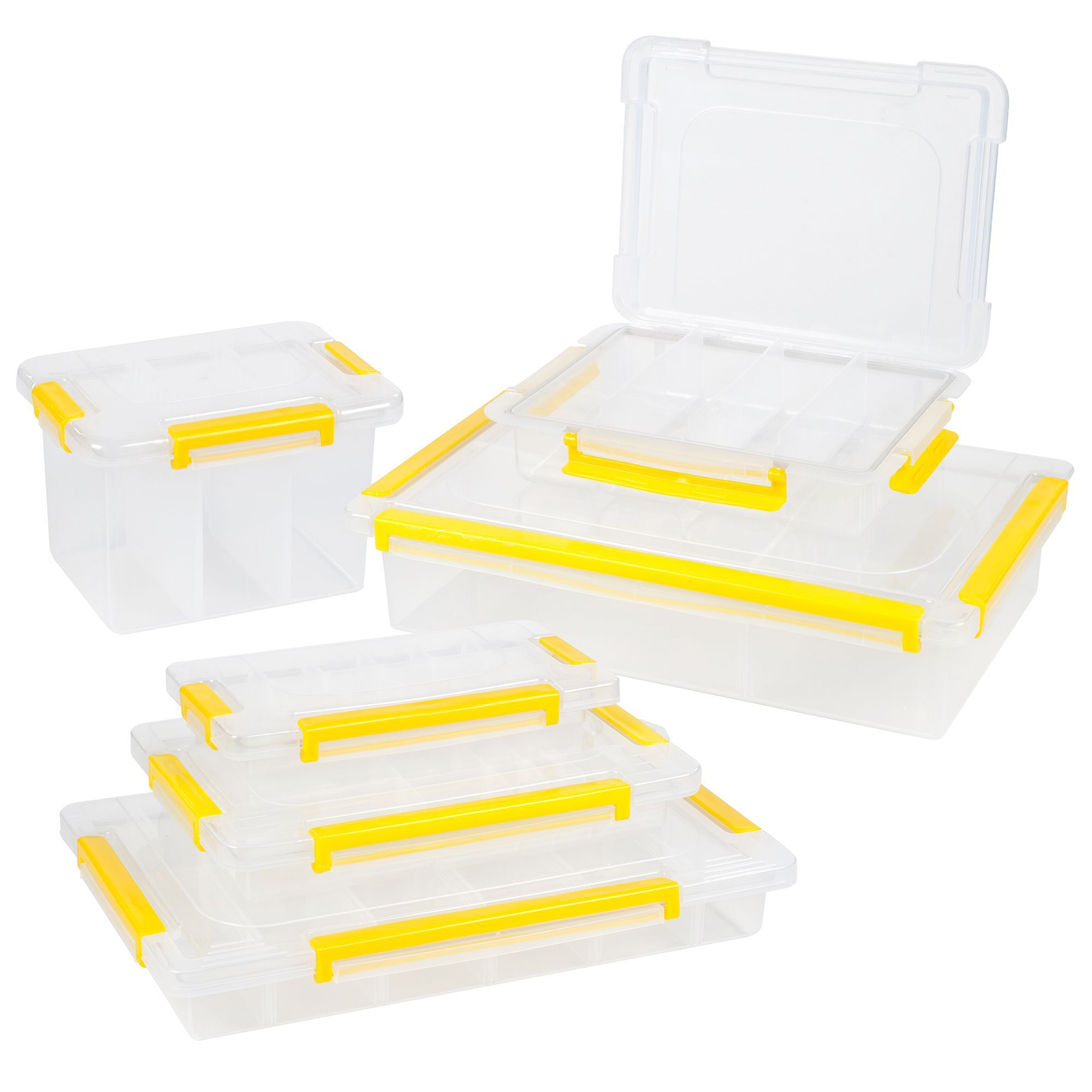 Stalwart Parts and Crafts Storage Organizers 6 Tool Box Set ...