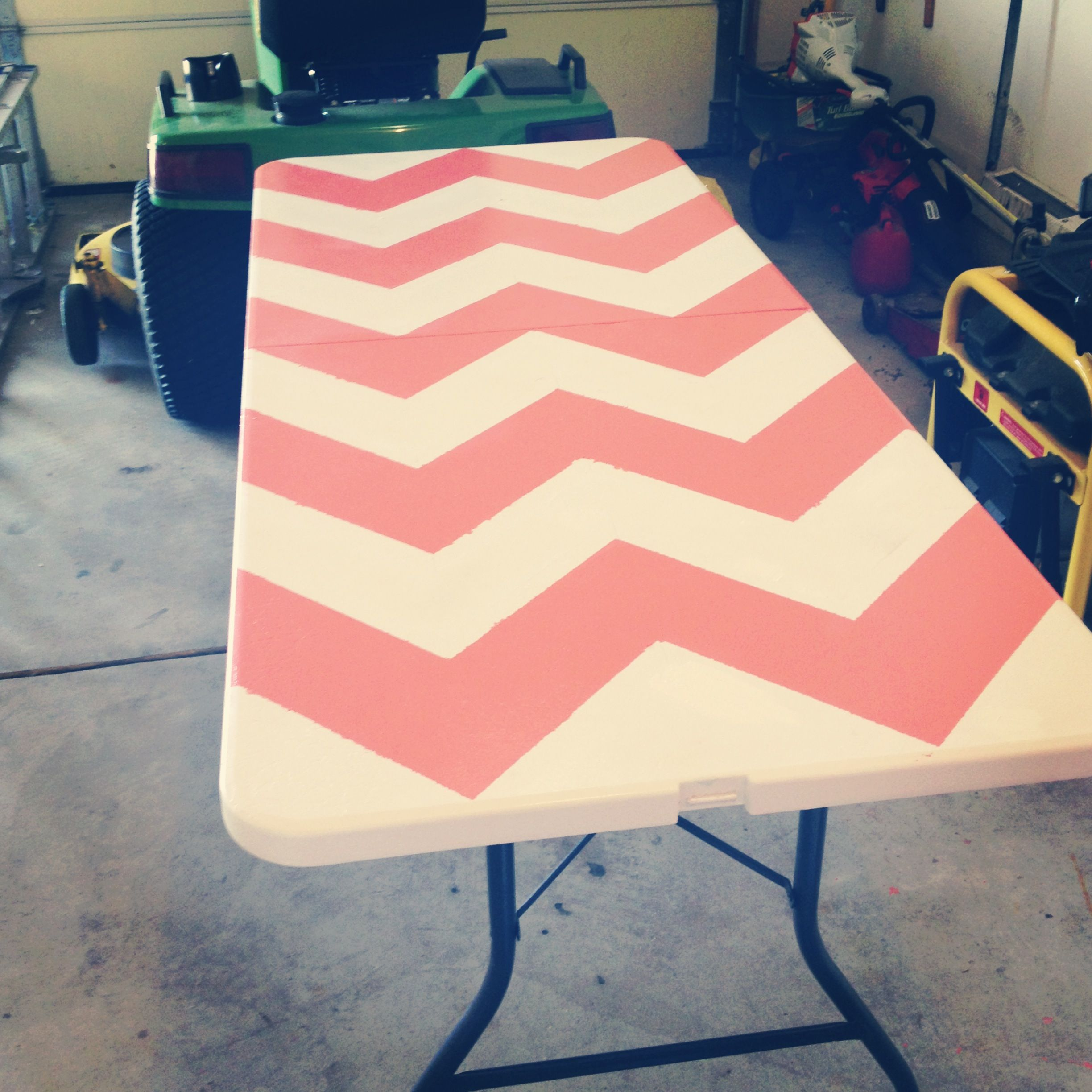 Chevron beer pong table! Beer pong tables