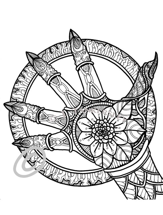 Gothic Wheel | Páginas del libro, Caprichosa y Forma geométrica