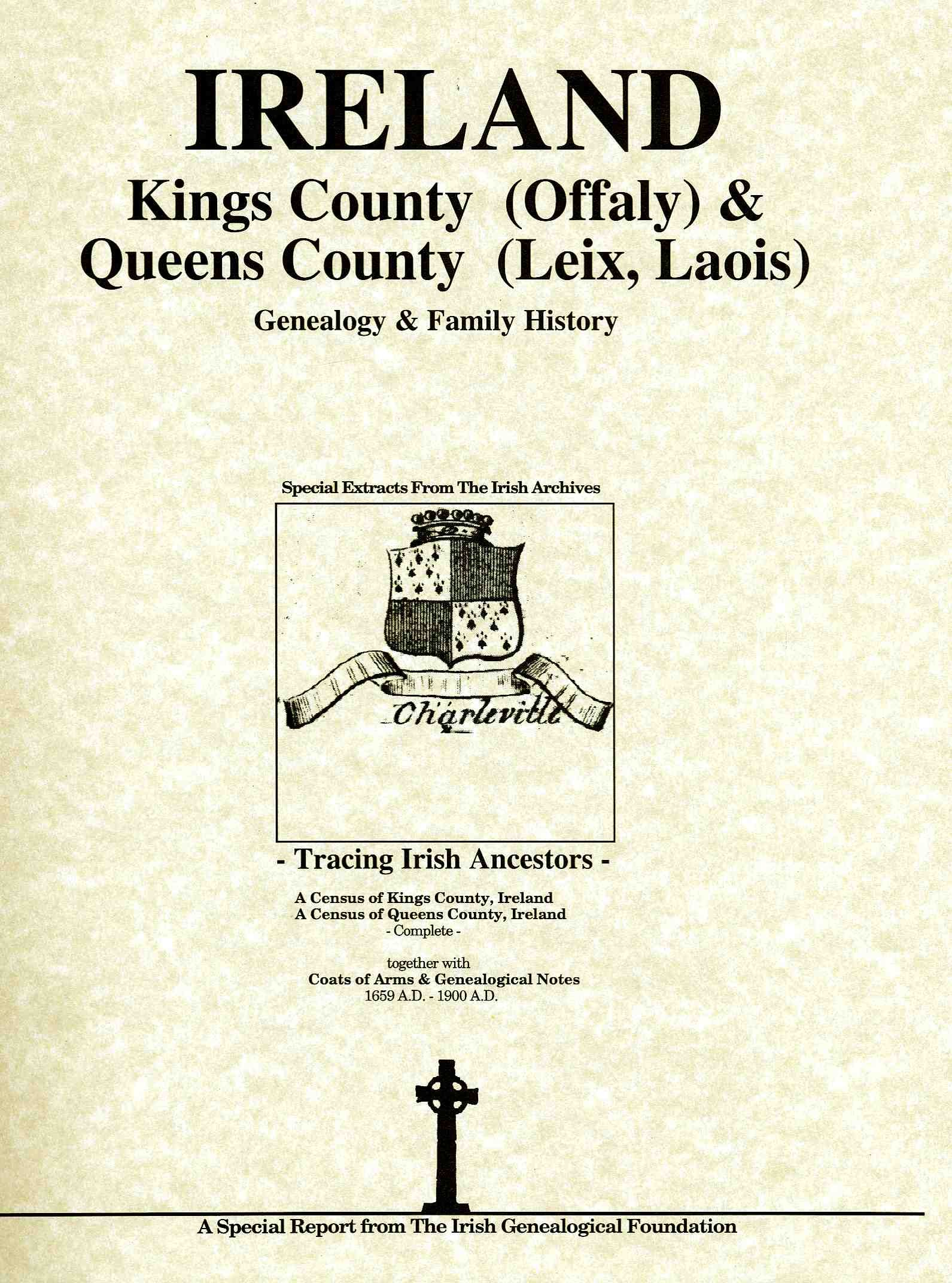 Kings County Offaly And Queens County Leix Ireland