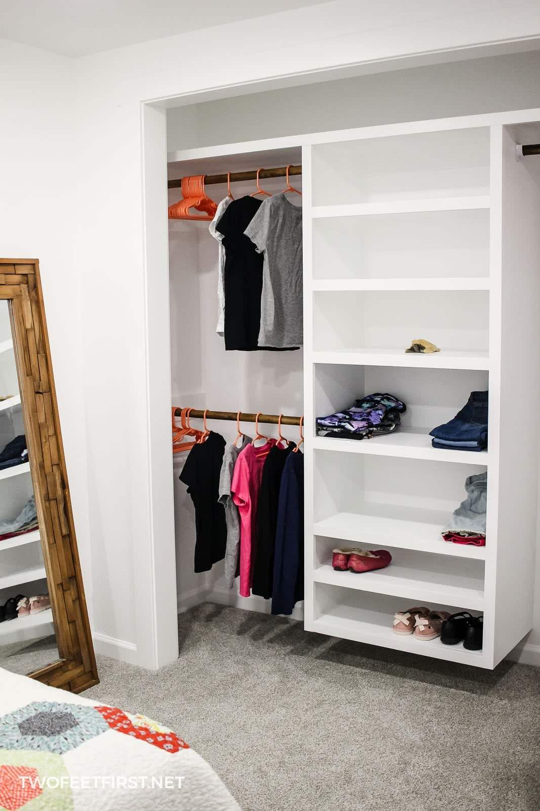How To Build An Easy Diy Closet Organizer Closet Organization Diy Closet Organization Closet Small Bedroom
