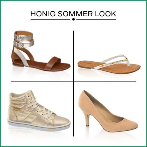 Für stylische Bienen! Zum Nationaltag der Honigbiene haben wir euch passend honigfarbene Schuhe zusammengestellt. http://deich.mn/54f69d #deichmann #schuhe #hoenig #hoenigbienen #nationaltag #sneaker #sandalen #flipflops #pumps #frauenmode #fashion #footwear #sommerlook #pastelfarben #neutral #perfectfoot