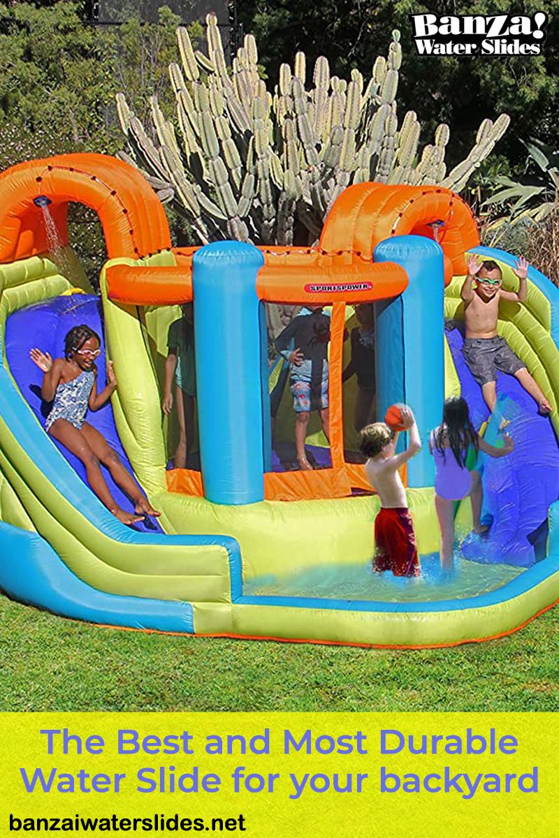 This Is The Best Most Durable Water Slide For Your Backyard This Summer Banzaiwaterslides Waterparks Water Slides Banzai Water Slide Inflatable Water Park