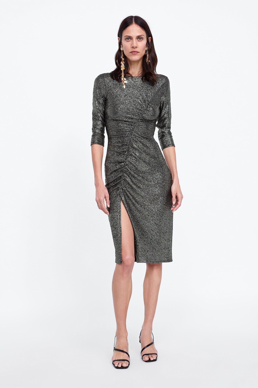 image 1 of draped dress from zara con imágenes  zara