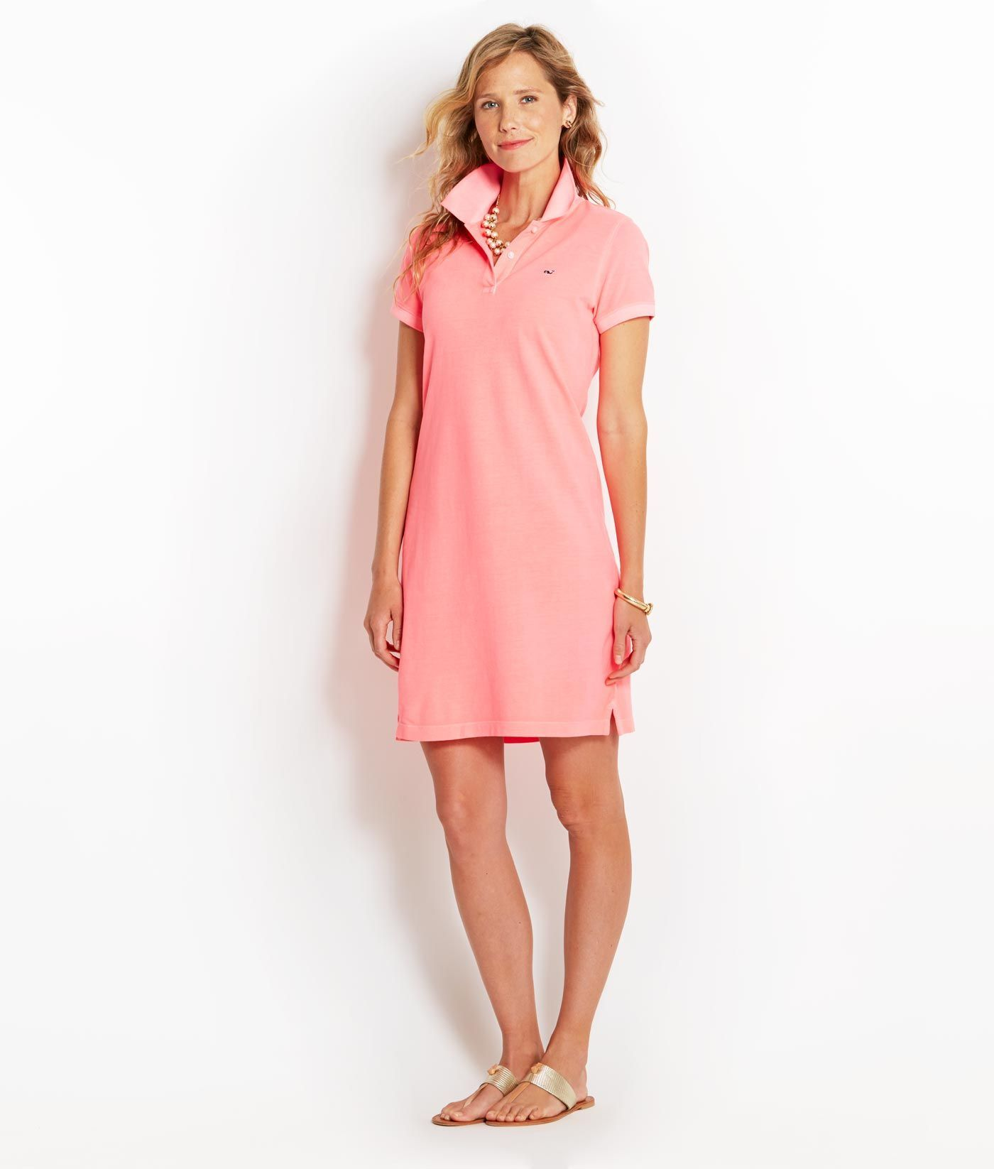 Women\'s Dresses: Buy Neon Garment-Dyed Classic Polo Dress for Women ...