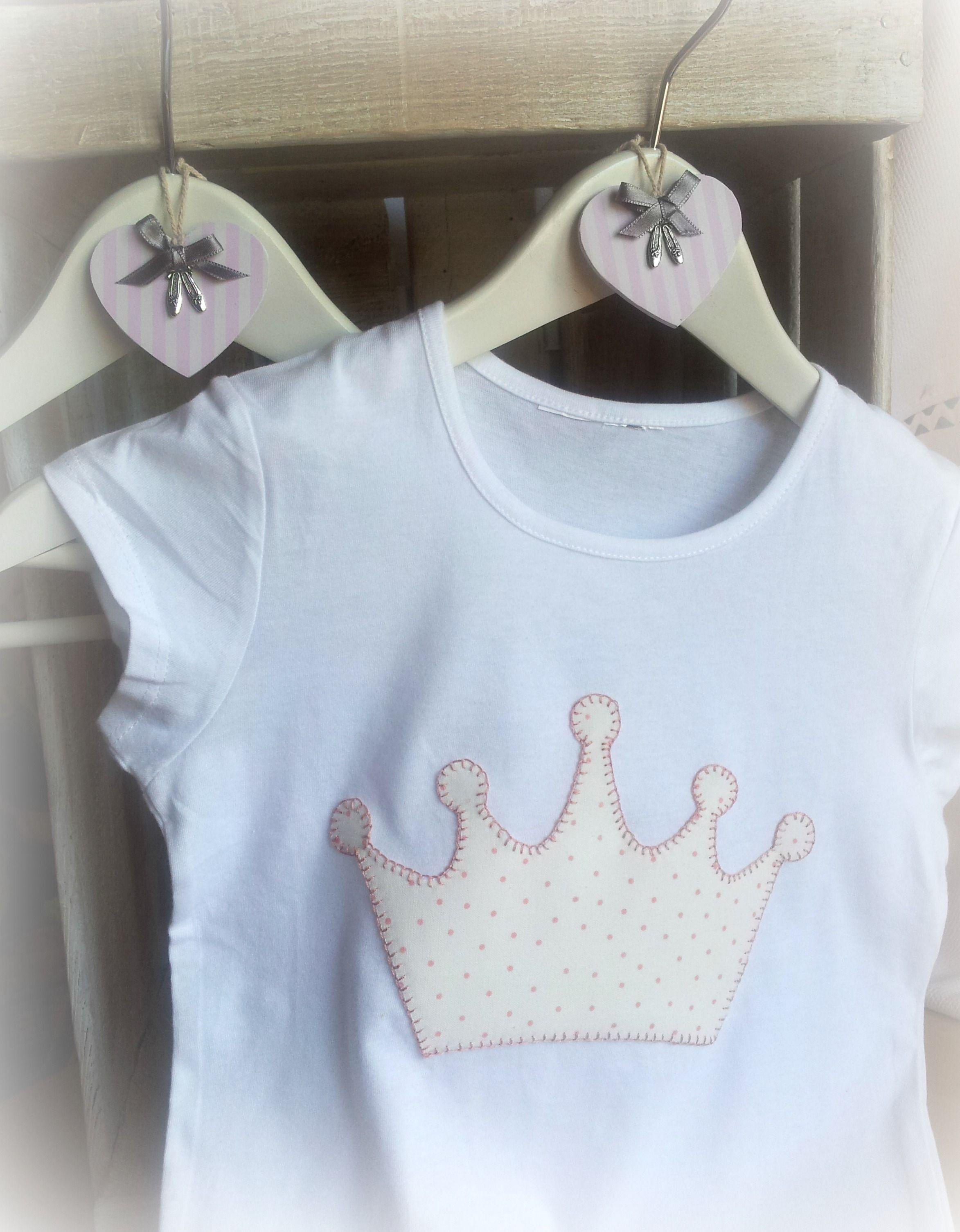 Una Dulce Aplicaci N De Una Corona De Princesa Telas  ~ Ideas Para Decorar Camisetas Infantiles