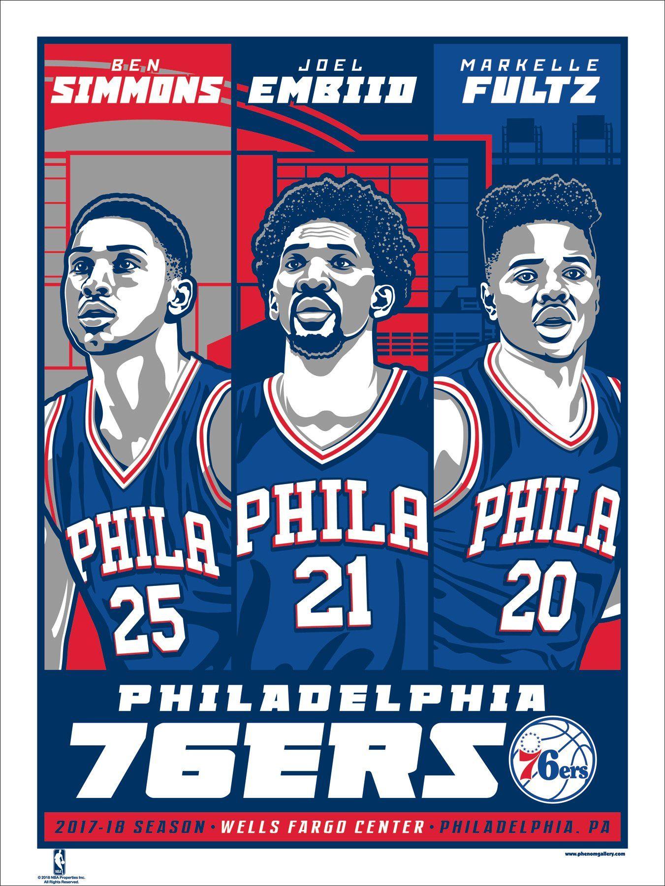 2efa35012 Philadelphia 76ers 2017-18 Season Stolitron Serigraph (Printer Proof)