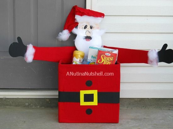 Santa Donation Box Christmas Toys For Tots Diy